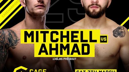 Leigh Mitchell will fight Damian Ahmad in the main event of Cage Warriors Academy South East 25 on M