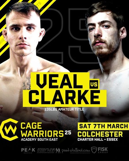 Chey Veal and Jack Clarke will fight for the amateur bantamweight title at Cage Warriors Academy Sou