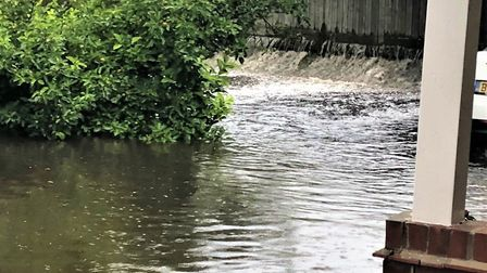 Pictures show the extent of the flooding caused by the new development on Melton Road near Woodbridg