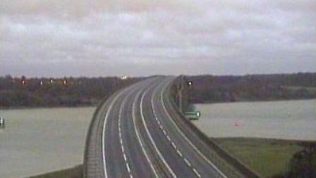 The Orwell Bridge has closed due to high winds. Picture: HIGHWAYS ENGLAND