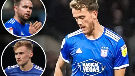 Emyr Huws is enjoying playing in an Ipswich Town midfield alongside Alan Judge and Flynn Downes. Pic
