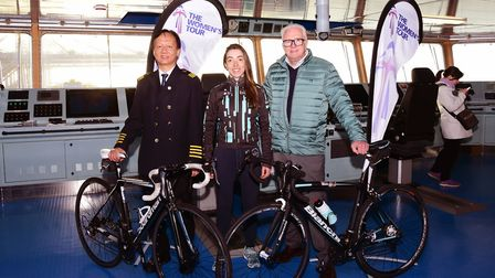 The Captain of Cosco container ship, professional cyclist Sophie Wright and double Olympic medalist