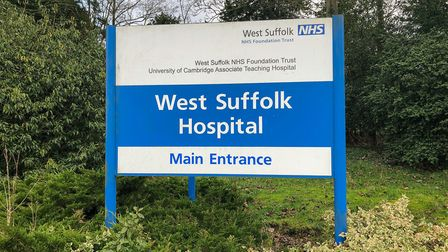 West Suffolk Hospital in Bury St Edmunds, where Susan Warby, 57, died on August 30 2018 after a seri