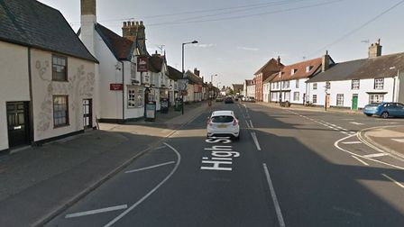 Needham Market has been hit by a poweroutage after an electricity cable was damaged. Picture: GOOGLE