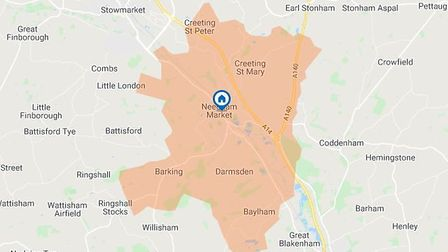 Some of the area around Needham Market is currently without power and there is no estimate of when i