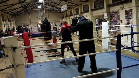 Training at Eastgate Boxing Club Picture: RACHEL EDGE