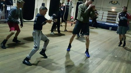 Young boxers are put through their paces Picture: RACHEL EDGE