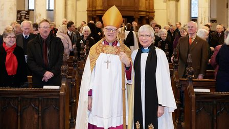 The Ry Rev Martin Seeley, Bishop of St Edmundsbury and Ipswich, with the Rev Jeanette Gosney, Archde