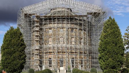 Scaffolding at Ickworth Picture: NATIONAL TRUST/JEMMA FINCH