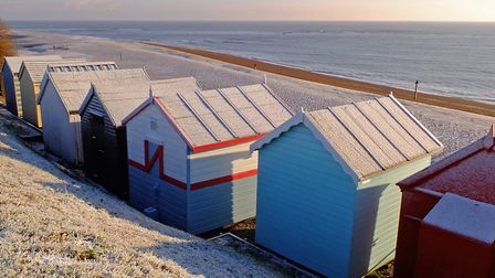 A frosty Felixstowe morning Picture: STEPHEN SQUIRRELL
