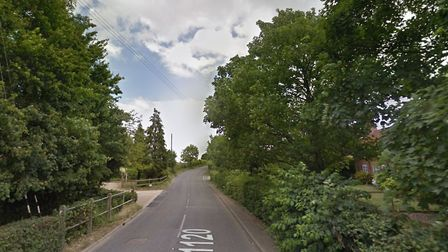 The A1120 is still closed following repairs to a burst water main. Picture: GOOGLE MAPS