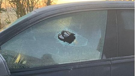 Ipswich Town striker James Norwood apparently had to smash his car window to get to training this mo