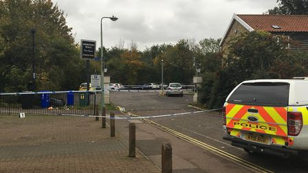 Police at the scene on the Moreton Hall estate Picture: ARCHANT