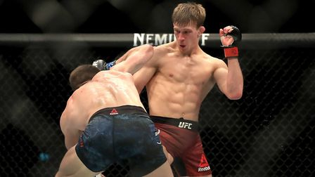 Arnold Allen (right) beat Nik Lentz at UFC Raleigh to move to 7-0 in the UFC. Picture: PA SPORT
