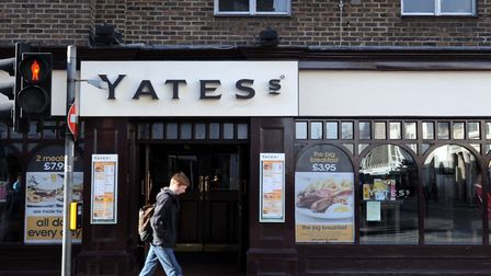 <<< NEWS >>>> The Yates's bar in Head Street, Colchester Andrew Partridge Thurs