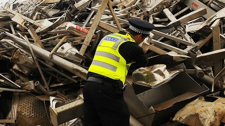 Police are staying vigilant to the possibility of another sudden rise in scrap metal theft Picture: