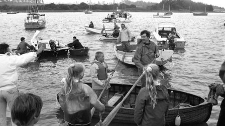 Young sailors preparing to go out rowing on the water Picture: ARCHANT