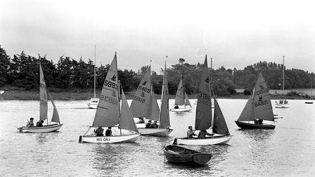 Boats out on the water for the regatta Picture: ARCHANT