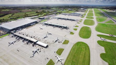 Aerial view of Stansted Airport Picture: LONDON STANSTED AIRPORT