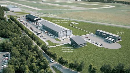 Plans for the first-purpose-built further education college at an airport make up part of the plans