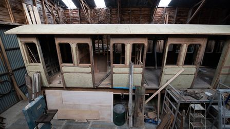Sharron Nichols and John McGlashan are working on another railway carriage which will be able to sle