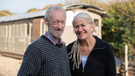 Sharron Nichols and John McGlashan have created holiday lets out of showman wagons and old railway c
