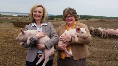 Elizabeth Truss and Dr Therese Coffey were both environment ministers when they visisted Blythburgh