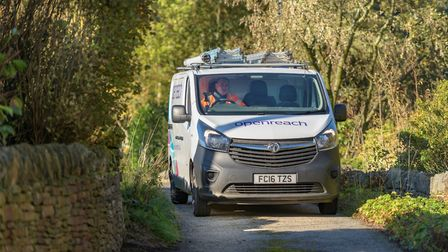 An Openreach van heading out to install ultrafast broadband Picture: OPENREACH