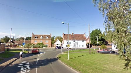 The driver collided with a power pole in Head Lane by the mini roundabout with Bures Road. Picture: