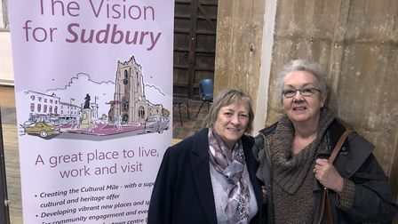 Rosie Eade, left, and Chris Watts at What Next for Sudbury?. Picture: MARK LANGFORD