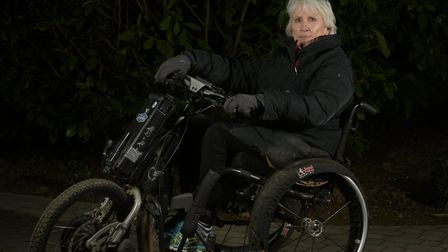 Jenny Hudson who lost the use of her legs after a riding accident five years ago, is trying out a ro