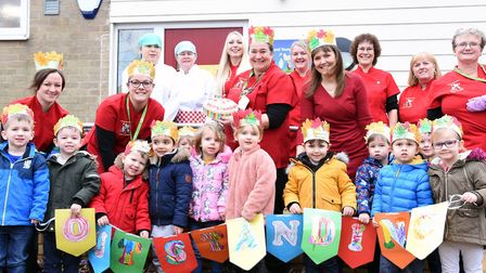 Brooklands Nursery celebrate their outstanding Ofsted report Picture: CHARLOTTE BOND