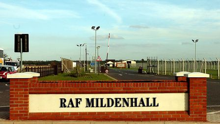 RAF Mildenhall was put on lockdown this evening after an incident Picture: ARCHANT