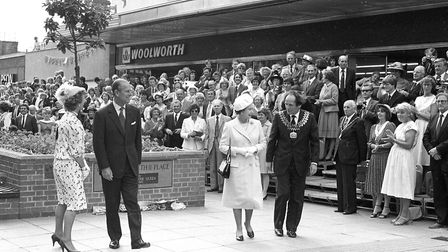 The Queen and Prince Philip after the presentation in Lowestoft Picture: JOHN KERR