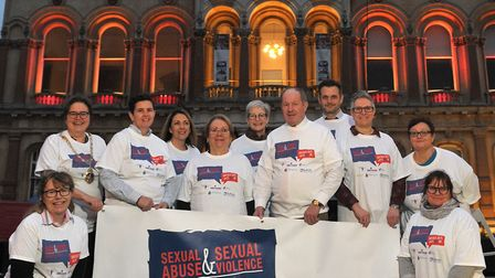 Local organisations got together for the launch of Survivors in Transition's #itsnotok week Pictu