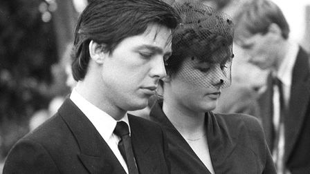 Jeremy Bamber and girlfriend Julie Mugford at the funeral of three members of his family Picture: PA