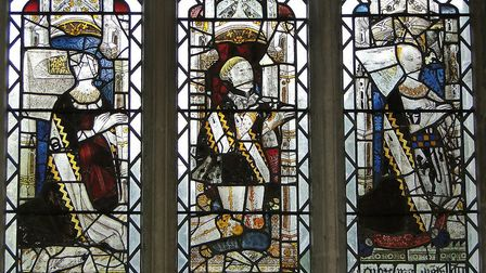 The stained glass windows at Long Melford church are being restored in an �800,000 project Picture:
