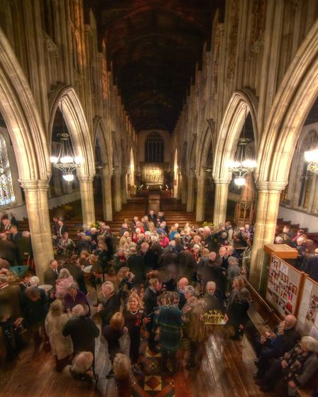 The fundraising evening in Long Melford church raised �1,800 for the stained glass windows appeal. P