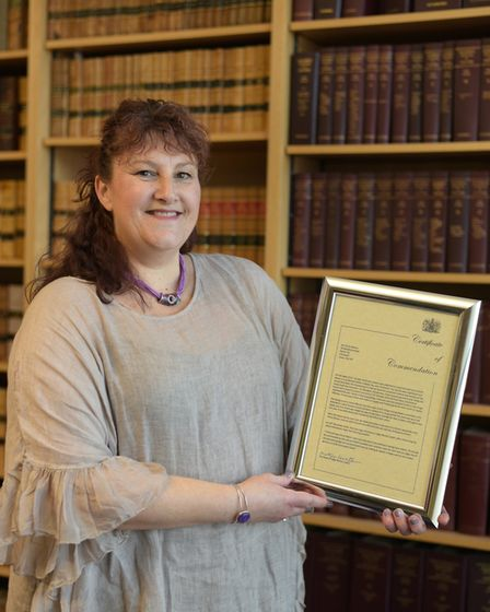 Fiona Watson has received a Certificate of Commendation for saving the life of a stabbing victim in