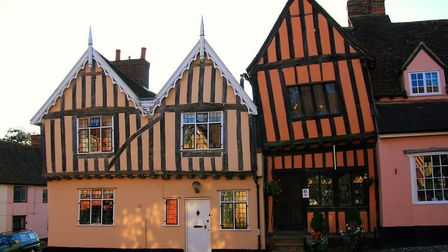 Britain's wonkiest house in Lavenham Picture: ANGLIA PRESS AGENCY