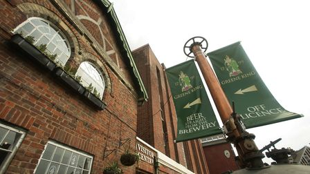 A view of Abbot House, the headquarters of pub and brewing company Greene King, in Bury St Edmunds,