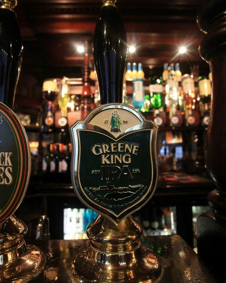 A selection of beers at a Greene King pub Picture: PA IMAGES
