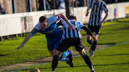 Action from Bury and Dereham Photo: HANNAH PARNELL