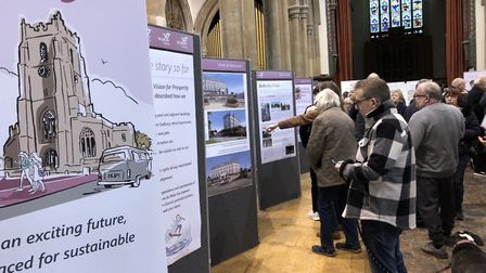 Visitors at the What Next For Sudbury? exhibition where plans to regenerate the town were unveiled.