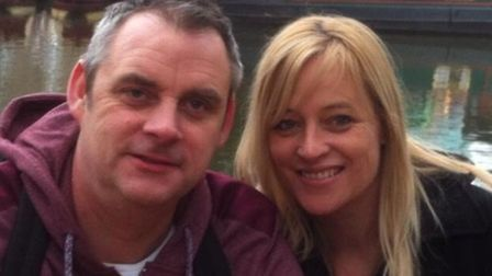 Simon Dobbin with his wife Nicole before the attack Picture: SUPPLIED BY FAMILY