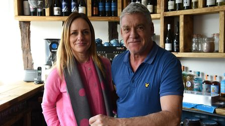 Owners of the Cobblers wine bar Fay Carfoot and Rob Wicks, a stylish new addition to Hadleigh highs