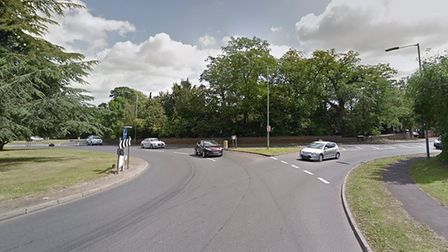 The HGV broke down about 3.20pm in Southgate Green, Bury St Edmunds Picture: GOOGLE MAPS