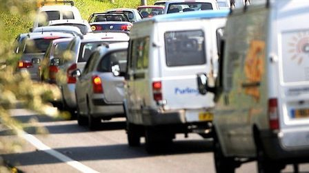The tree cutting is causing delays on the A12. Picture: ARCHANT LIBRARY