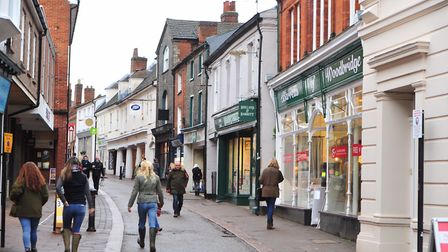 The Thoroughfare, Woodbridge. Picture: SARAH LUCY BROWN