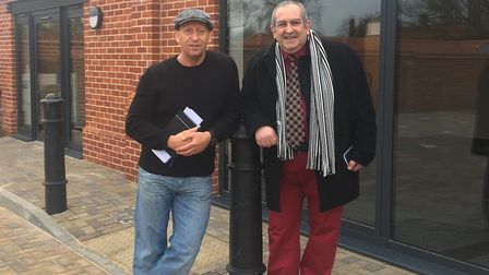 Dean Smith and Tendring councillor Carlo Guglielmi Picture: DEAN SMITH/FITNESS AT SUMMER'S PARK